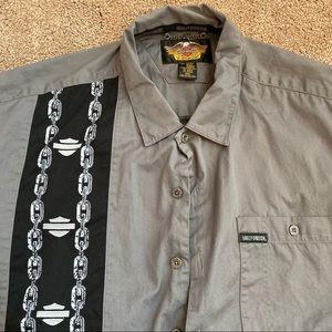 Harley-Davison B&S logo button-down shirt SXXL